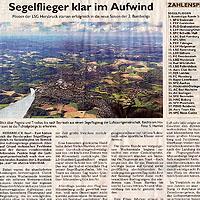 Segelflieger klar im Aufwind – Hersbrucker Zeitung vom 04.05.2018