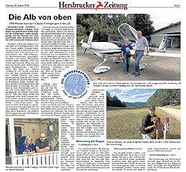 Die Alb von oben – Hersbrucker Zeitung vom 28.08.2018