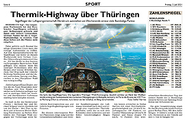 Thermik-Highway über Thüringen
