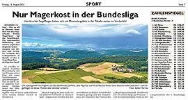 Nur Magerkost in der Bundesliga